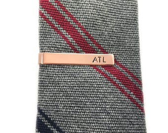 easter gifts for boyfriend, custom tie bar, birthday gifts for him, copper tie clip