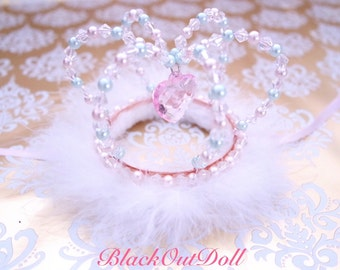 Magical Princess Tiara Crown Royal Queen Fancy Lolita Pretty Head Accessory