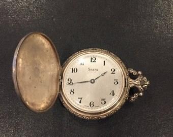 Sears Swiss men's pocket watch