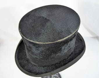 Vintage late 1800s top hat from Christys' London