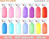 50% OFF Sale Spray Bottle Clipart, Spray Bottle Clip Art, Gardening, Garden, Cleaning, Printable, Planner Stickers, PNG, Commercial, Digital