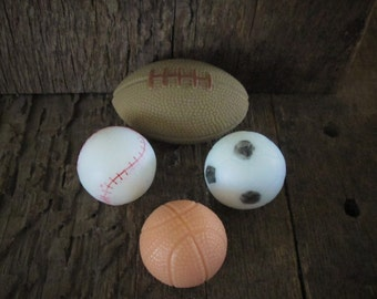 Sports Organic Shea Butter Soap Gift Set Football, Basketball, Baseball, Soccer