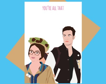 She's All That card - You're all that - 90s card - Funny greeting card