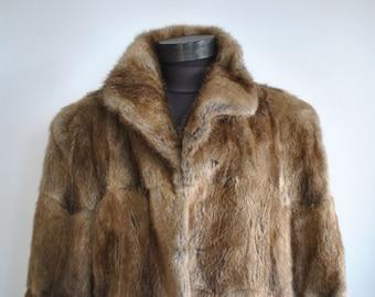 Vintage MINK FUR COAT , full length women's fur coat .............(279)