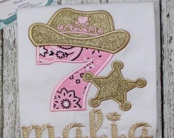 Cowgirl birthday shirt, birthday shirt