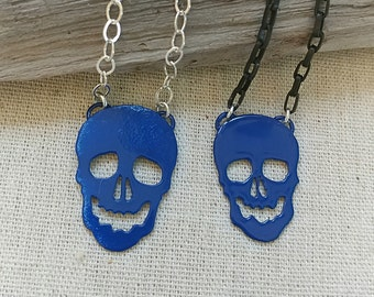 SALE! Choice of Royal Blue Skull Necklaces