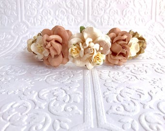 The Mocha and White Goddess Floral Crown