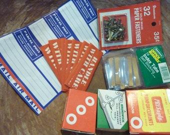 Dennison Labels Parcel Post Handle With Care Reinforcements Prongs Office Supply Lot Box Ephemera (#280)