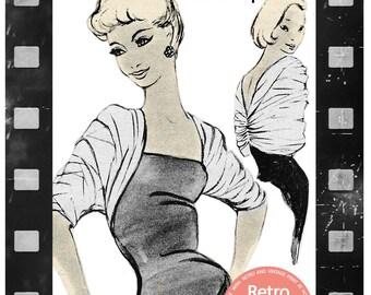 1950's Taffeta Bow Stole - PDF Pattern - Instant Download