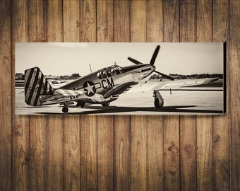WW2 North American P51 Mustang Photograph on Canvas or Satin Photo Paper