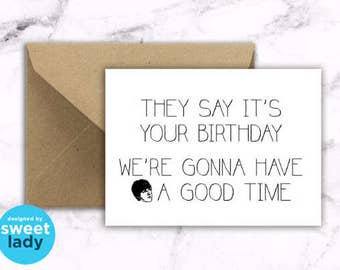 Lyrical Card : THE BEATLES Birthday