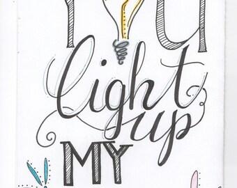 You Light Up My Life Card