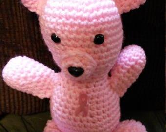 "12"" Pink Breast Cancer Awareness Bear"