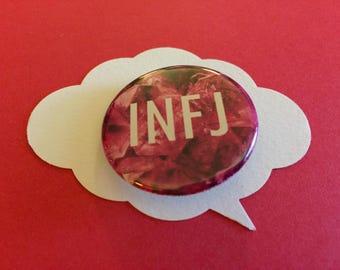 MBTI INFJ pin | meyer briggs personality button