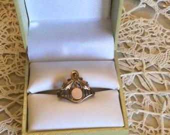 Vintage Victorian Brooch Pendent SMS English Jeweler Gold Filled-Monogram-Fine Estate Jewelry