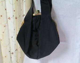 Vintage Ingber Black Pleated Purse