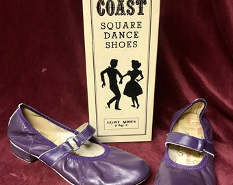 Vintage COAST Square Dance Shoes - Purple - Ringo - Size 8 1/2 N