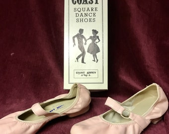 Vintage COAST Square Dance Shoes - Pink - Ringo - Size 8N