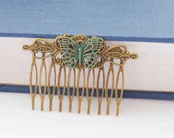 Butterfly Hair Clip, Gifts for Girls, Decorative Comb, Butterfly Hair Clip, Butterfly Hair Accessories, Vintage Hair Comb, Butterfly Gift