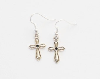 Cross Earrings, Confirmation Gift, First Communion, Christian Jewelry, Baptism Jewelry, Christian Earrings, Christmas Gift, Gift for her