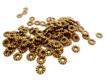 Small Brass Interpiece_F56125856476571N_Small Brass Beads_Interpieces_ of 6 mm_ hole 2 mm_ pack 100 pcs