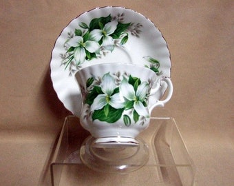 "Royal Albert ""Trillium"" Tea Cup and Saucer"