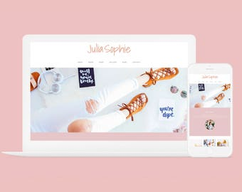 Wordpress Theme + Brand Kit - Julia Sophie