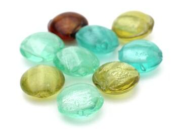 Mixed Lot of Venetian Glass Round Beads 12mm 9pcs