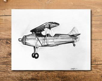 Boys Room Art - Airplane Boys Room Decor