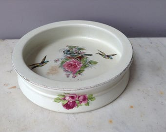 """Antique Baby Bowl With Birds and Flowers """"Ridgewood' England China"""
