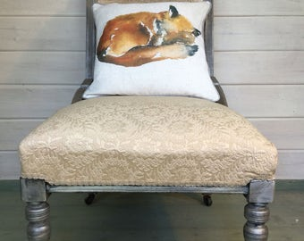 Upholstered Chair with Foxy Cushion