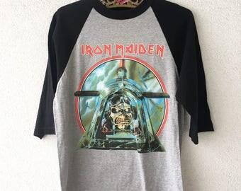 V RARE Iron Maiden '84 World Slavery Original TOURSHIRT  S