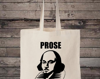 William Shakespeare Prose Before Hoes Funny Cotton Shopping Tote Bag
