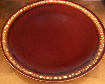Large Drip Glaze Serving Platter Charger Marked USA