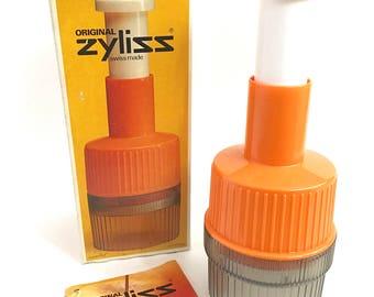 Vintage Zyliss Food Chopper Mod Orange Mini Food Prep Utensil 1970s Kitchen Tool Swiss