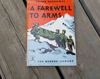 Vintage Hardcover Book, A Farewell to Arms by Ernest Hemmingway