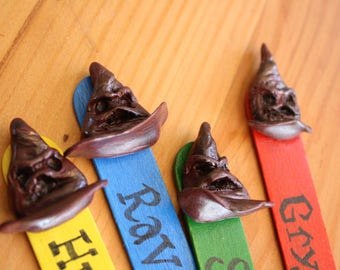 Sorting Hat Bookmark: Harry Potter Inspired Polymer Clay/ Wood Bookmark