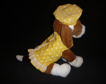 Dog Harness Dress-XS & Small with matching hat