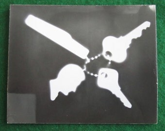 Mid Century 1950's Photogram By David Flesvig - Free Shipping