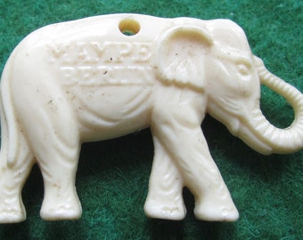 Original 1950's Berlin Zoo Mampe The Elephant Necklace Charm - Free Shipping