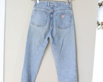 vintage 1980's high rise guess mom  jeans denim 26