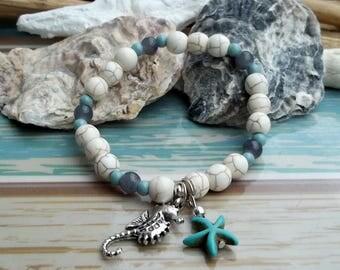 Bohemian bracelet seahorse