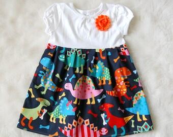 Dinosaurs! Girls Dinosaur Dress**Spring summer dino dress**Toddler girls dress**Tomboy dress**T-Rex, roar dress**Novelty dress, prehistoric