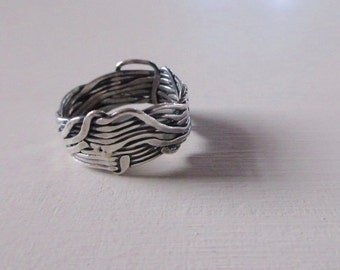 One of a kind oxidised silver ring 2