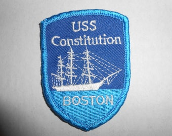 "Vintage USS Constitution Boston Patch 2.75""x2"""