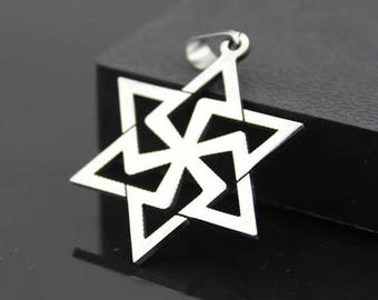 2 pcs 31x38mm Stainless Steel Hexagonal star Charms  Pendants,Hexagram charm.star charm