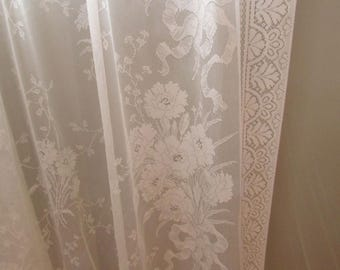 Sweet Off White Lace Curtain Panel