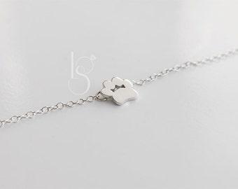 Handmade Dog Pawprint Bracelet. Cat pawprint bracelet. Silver bracelet.