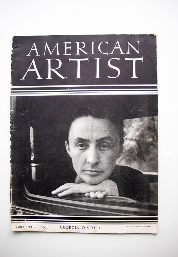 Incredibly Rare - American Artist Magazine 1943 - Featuring Georgia O'Keeffe