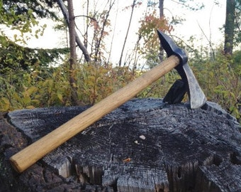 Hand-Forged Tomahawk, Hand Axe, Blacksmithed Hawk, iron, forged